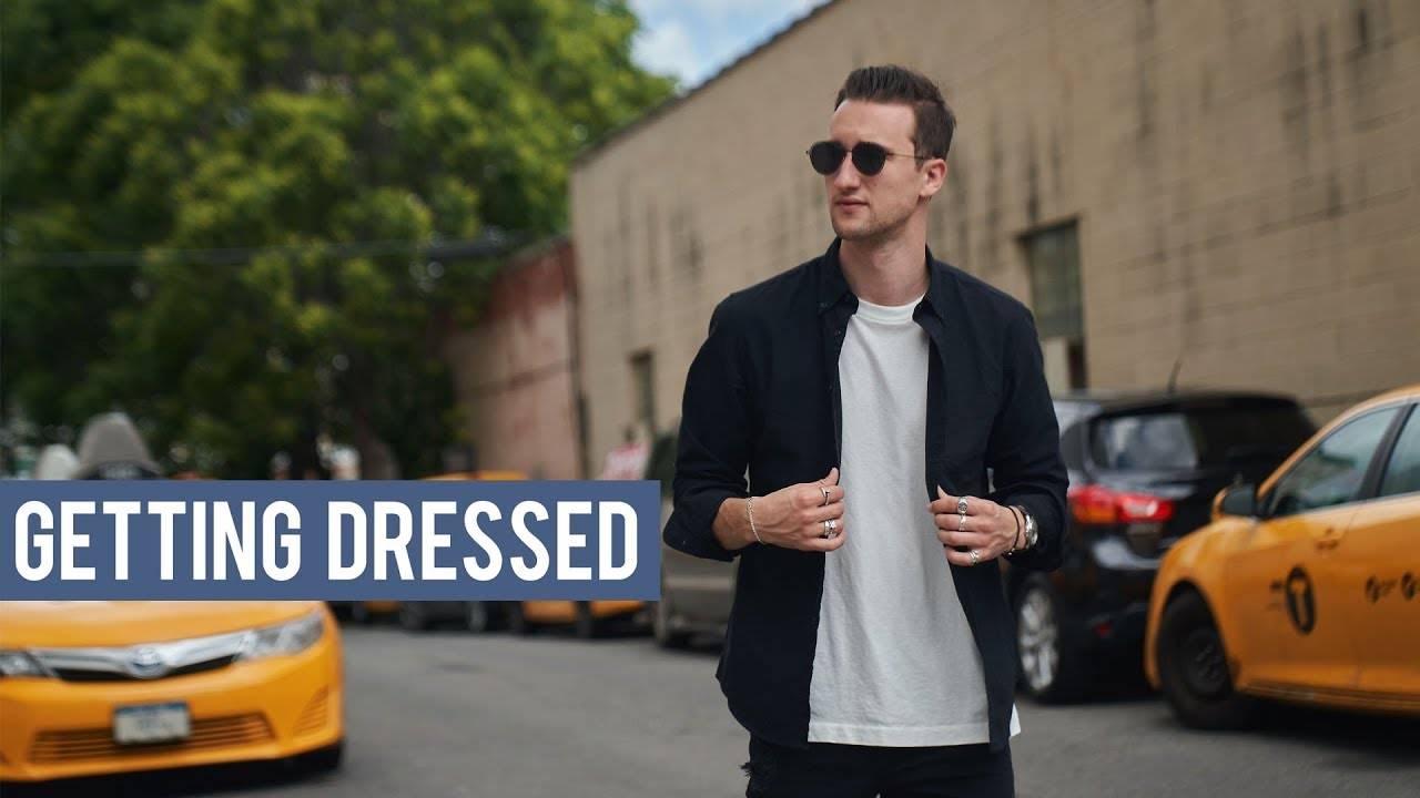 How I Styled a Black Oxford Shirt | Casual Men's Outfit Inspiration | Getting Dressed #29 6
