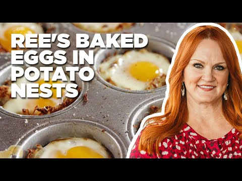 Ree's Baked Eggs in Potato Nests | Food Network