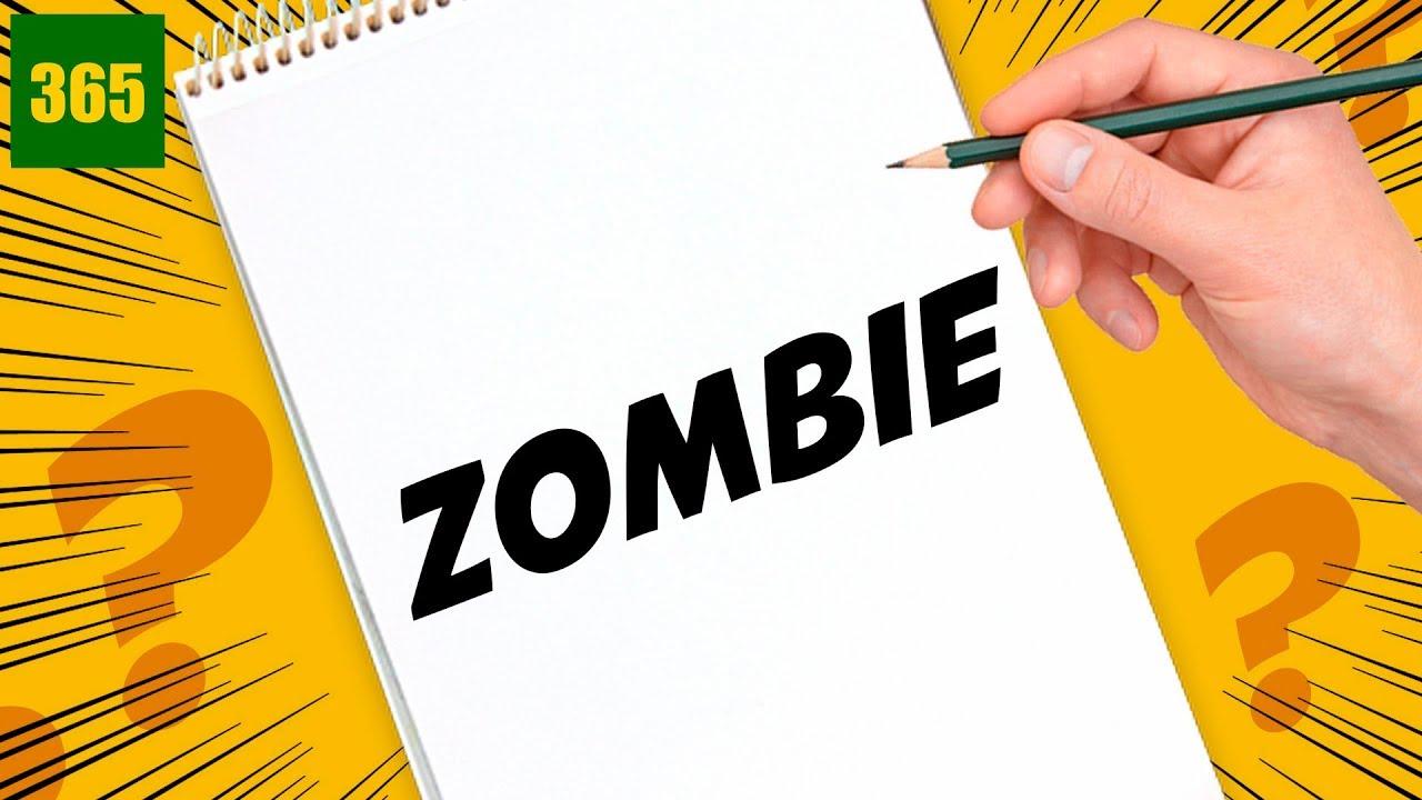 Incroyable comment cr er un dessin avec les lettres de - Comment dessiner un zombie ...