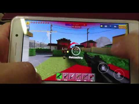 Pixel gun 3D on Huawei Y6 ii - YouTube