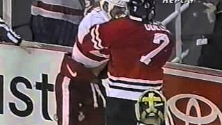 Lyle Odelein vs Darren McCarty Jan 13, 2003