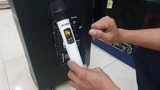 hướng dẫn cài lại tay míc loa kéo ACNOS model CB403GE và CBX15G bị sai sóng không thu được míc