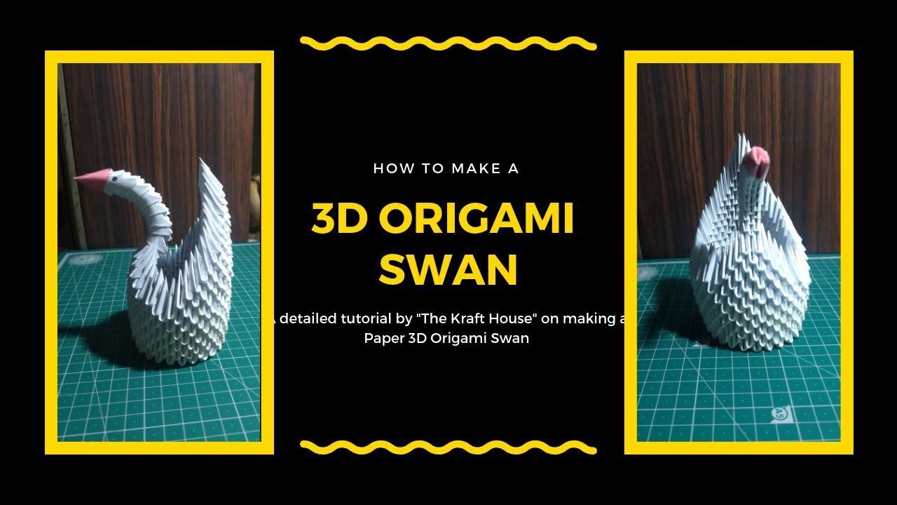 3d Origami Swan Tutorial Diy Paper Craft The Kraft House 3dorigamiswandiagram Dragon Diagram Dragons On D 3dorigamiswan Thekrafthouse