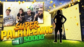WALKOUT & 200K PLAYER - FIFA 18 SUPER PACK OPENING in MELAGOODO HOUSE [50000 FIFA POINTS]