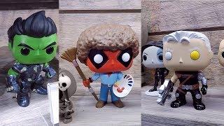 Deadpool 2 and Marvel Comics Funko Pop Vinyl Figures At The 2018 New York Toy Fair