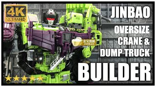 Jinbao BUILDER SET C Oversized Generation toys Crane and Dump Truck (Hook and Long Haul)