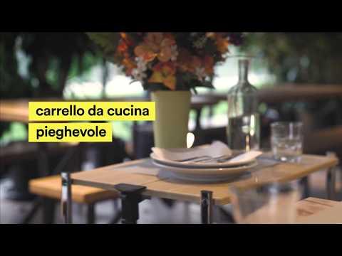 Carrello da cucina pieghevole - YouTube