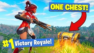 The *ONE CHEST* CHALLENGE In Fortnite Battle Royale!