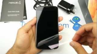 Nexus 4 Unboxing - فتح صندوق نيكسوس ٤