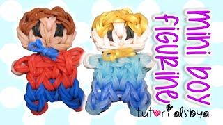 Cute Mini Baby Boy Person Charm / Figurine Rainbow Loom Tutorial | How To