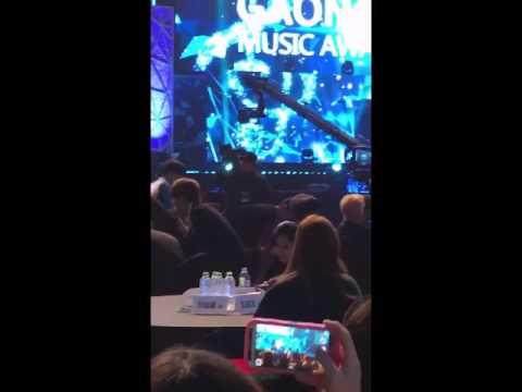 [FANCAM] 170222 NCT127 enters artist area @Gaon Chart Music Awards