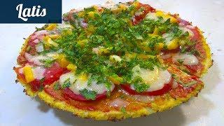 Диетическая пицца без муки для тех кто хочет  похудеть!