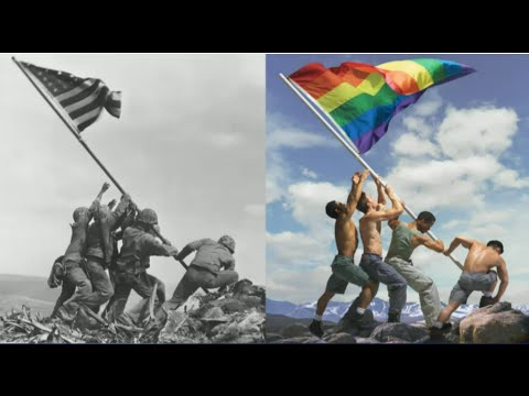 Iconic Iwo Jima Photo Recreated With Gay Pride Flag Sparks Outrage