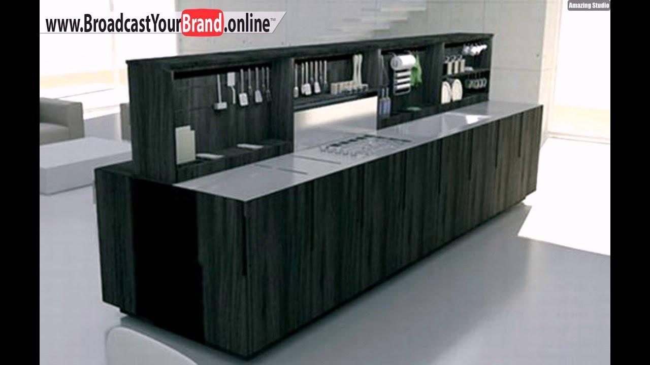 Praktischer Stauraum Kücheninsel Schränke - YouTube