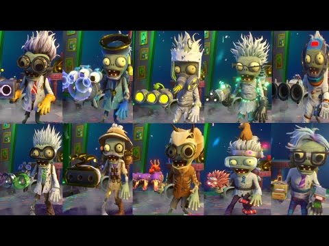 PvZ Garden Warfare 2: ALL SCIENTIST ZOMBIES! NEW Zombies   Gameplay