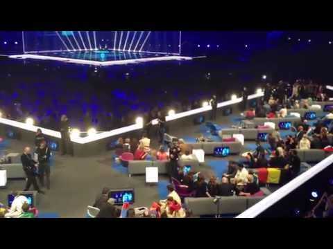 Behind camerasâ•'Results Semi-Final 1 Eurovision 2014