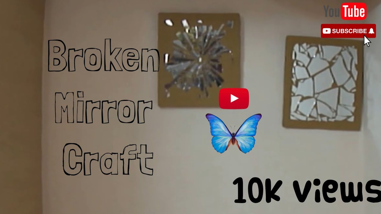 15 diy wall decor mirror mosaic youtube for Long wall hanging mirrors