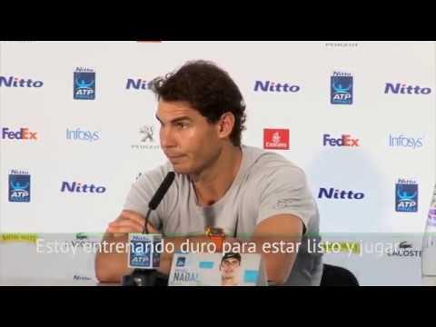 Rafael Nadal Pre-tournament press conference at 2017 ATP Finals