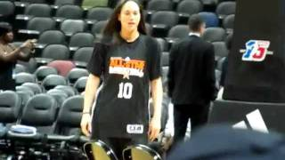 2011 WNBA All Star Practice Part 1
