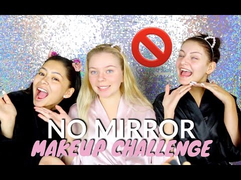 NO MIRROR MAKEUP CHALLENGE w/ Daisy & Shelby!