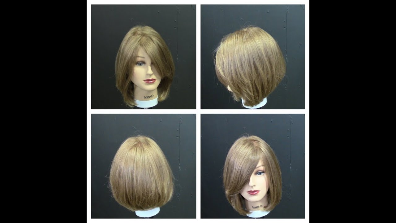 women's medium length haircut tutorial with face frame