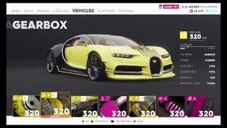 The Crew 2 Pro Settings For Bugatti Chiron