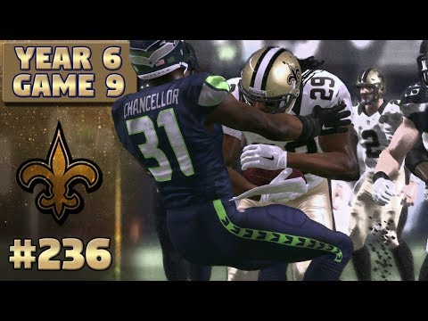 Saints @ Seahawks Highlights (S6,G9) | Madden NFL 17 New Orleans Saints Franchise Ep. 236