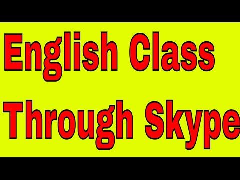 English Class Through Skype(Live Recording)With An Indian English Teacher!