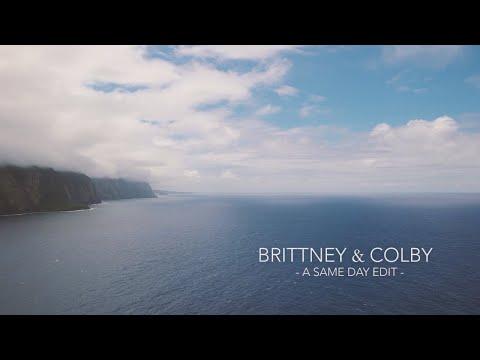 Hawaii Island Wedding || Brittney and Colby - Same Day Edit || Waipio Valley, Big Island