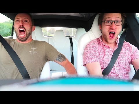 LAUNCHING FAMILY 0-100MPH IN TESLA MODEL S! *World's Fastest Car*