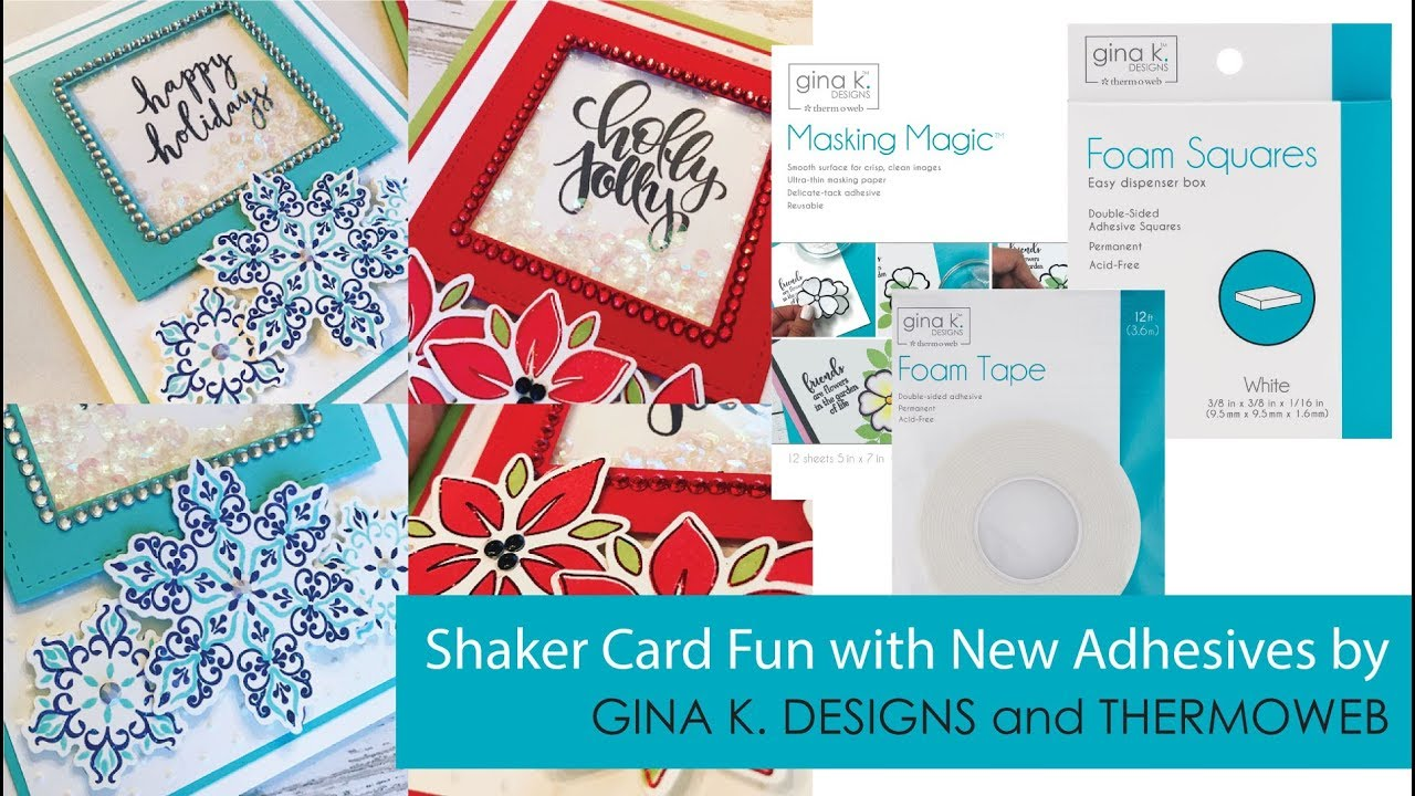 shaker card fun with new adhesive products youtube