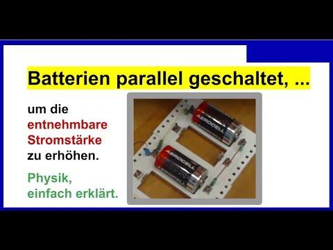 batterien in reihe schalten