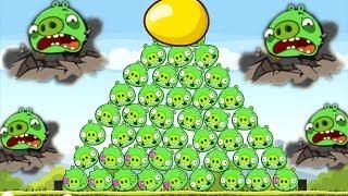 Angry Birds - EARTHQUAKE POWER-UPS VS PIGGIES 9 x GOLDEN EGGS