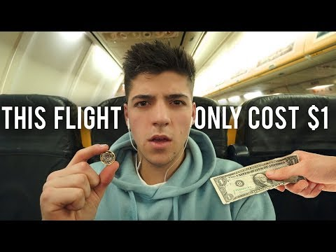 This Flight Only Cost $1 (Here's How) - The Cheapest Flight Ever