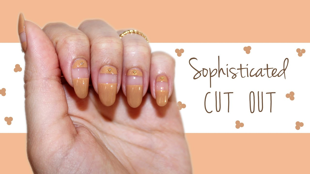 Easy Nails| Sophisticated Cut Out ♡ - YouTube