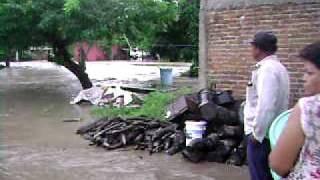 Inundacion Jamapa (Paso Real) a primera hora de la mañana