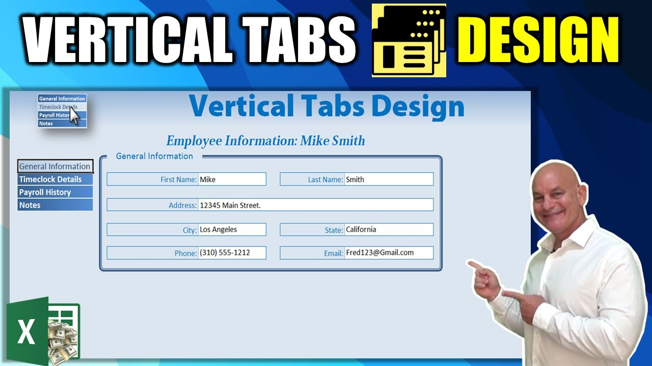 How To Quickly Create Vertical Tabs for ANY Excel Workbook