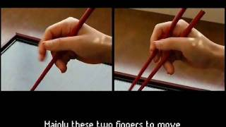The Answer Book: Guide to mastering the chopsticks within 5 minutes (How to hold chopsticks)