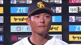 ホークス・市川選手・攝津投手のヒーローインタビュー動画。 2018/05/22...