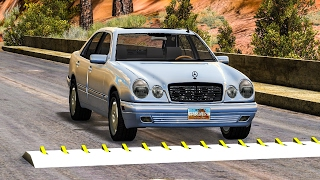 SPIKE STRIP HIGH SPEED CRASHES #11 - BeamNG Drive