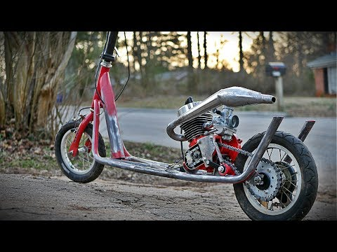 Free 2 Stroke Race Scooter Build Part 1
