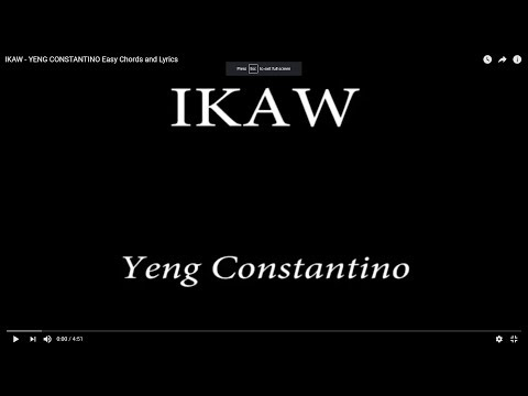 IKAW - YENG CONSTANTINO Easy Chords and Lyrics
