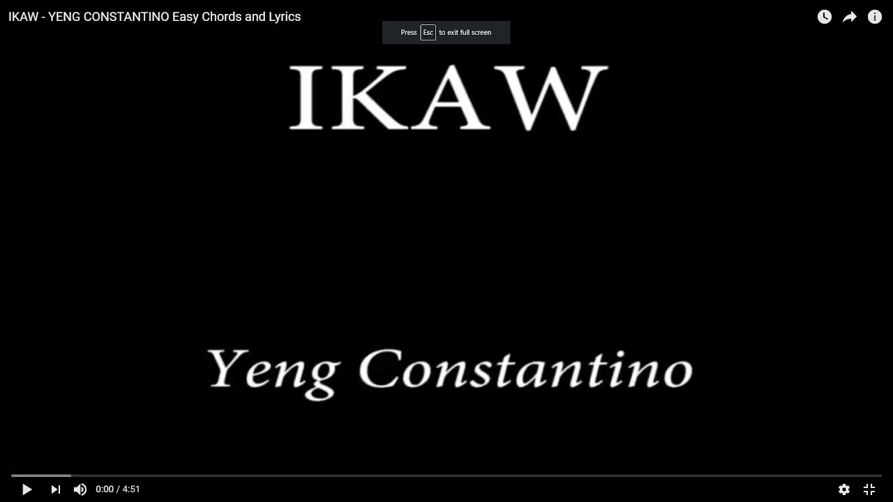 how to play ikaw by yeng
