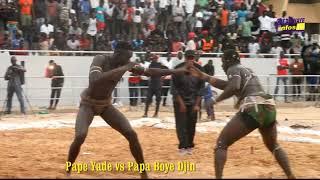 Regardez le Combat Pape Yade vs Papa  Boye Djiné stade Ibre Mar Diop
