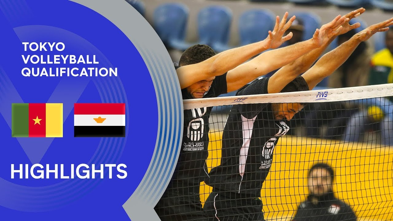 Cameroon vs. Egypt - Highlights | CAVB Men's Tokyo Volleyball Qualification 2020