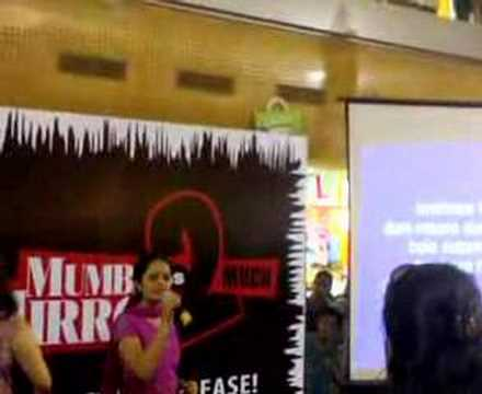Archana during the karaoke competition