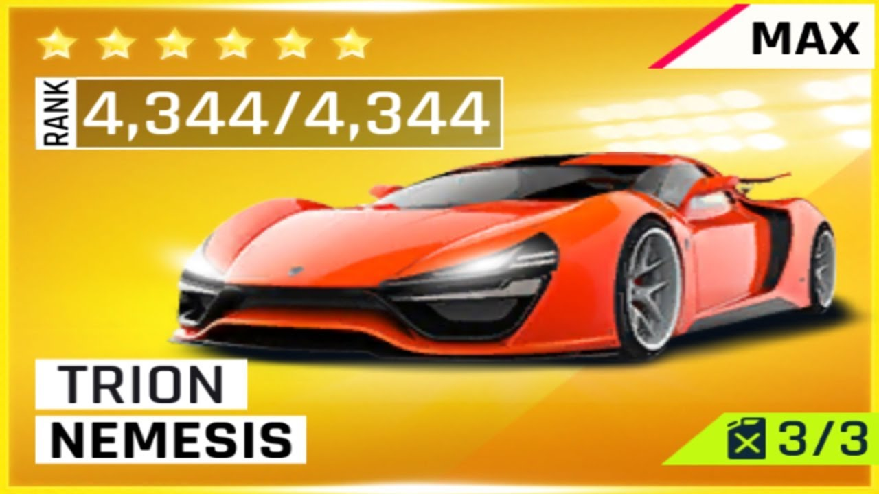 Asphalt 9 Trion Nemesis Fully Maxed Youtube