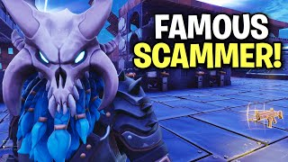 I just exposed a really famous scammer! 😱 (Scammer Get Scammed) Fortnite Save The World