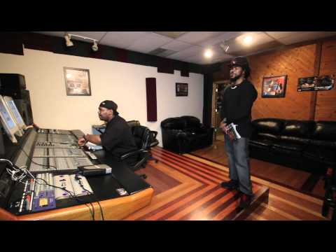 Audio Engineer Loud Pac Lethal in studio session with talented North Carolina artist