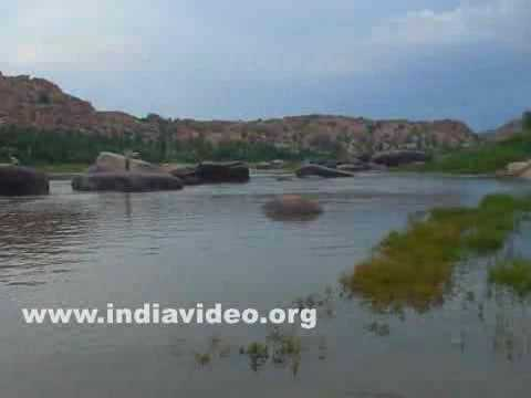 River Tungabhadra and Hampi in Bellari district